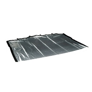 "Road Rag Silver Lame 24""X36""(149007)"